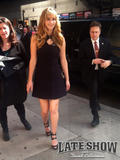 """Jennifer Lawrence arrives at """"Late Show with David Letterman"""" (March 20th, 2012)"""